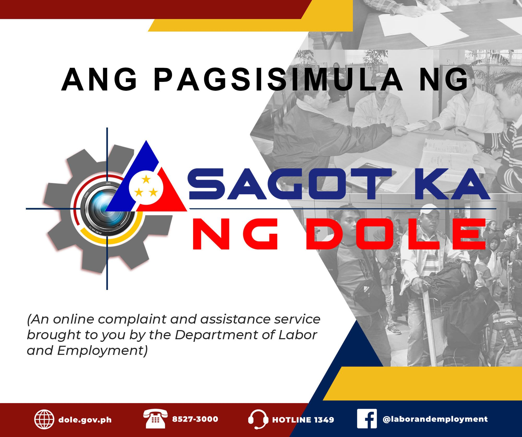 """Sagot Ka Ng DoLE"": An online platform aims to help FIlipino Workers"