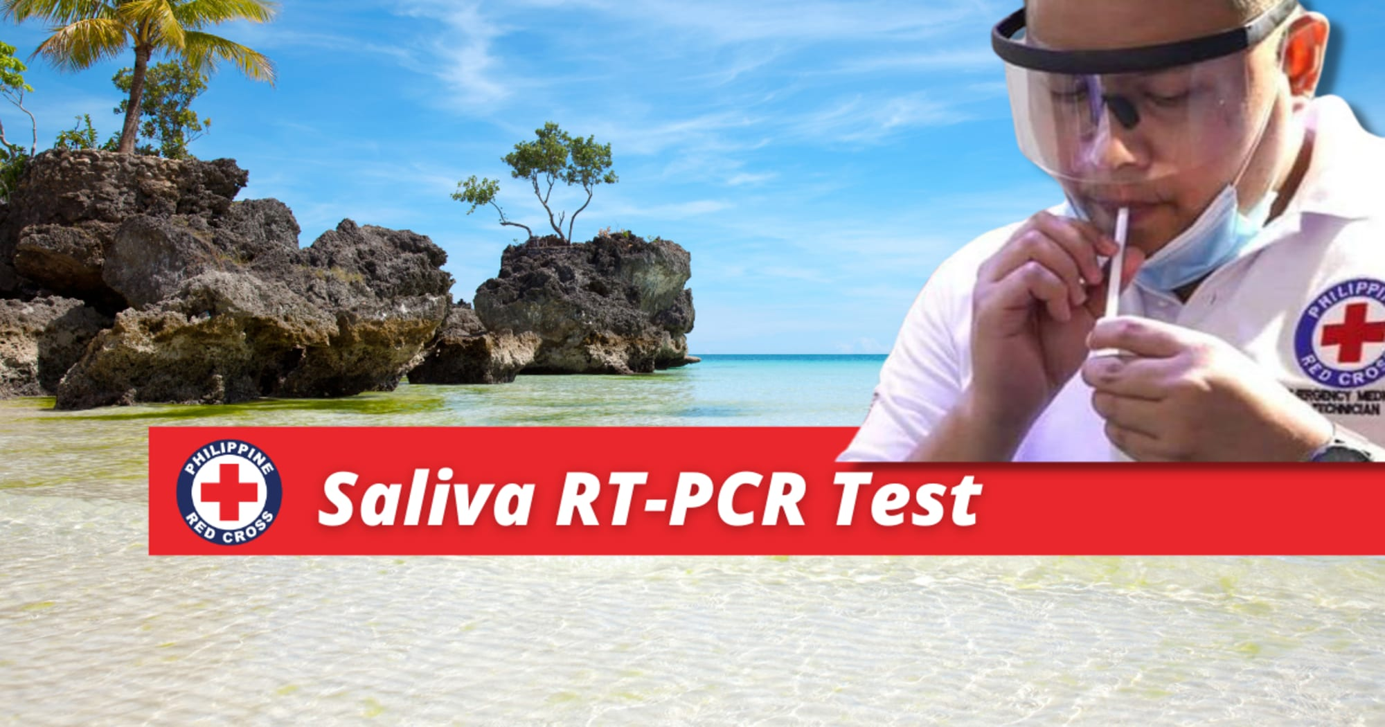 Philippine Red Cross Boracay Chapter NOW accepts Saliva based RT-PCR Testing