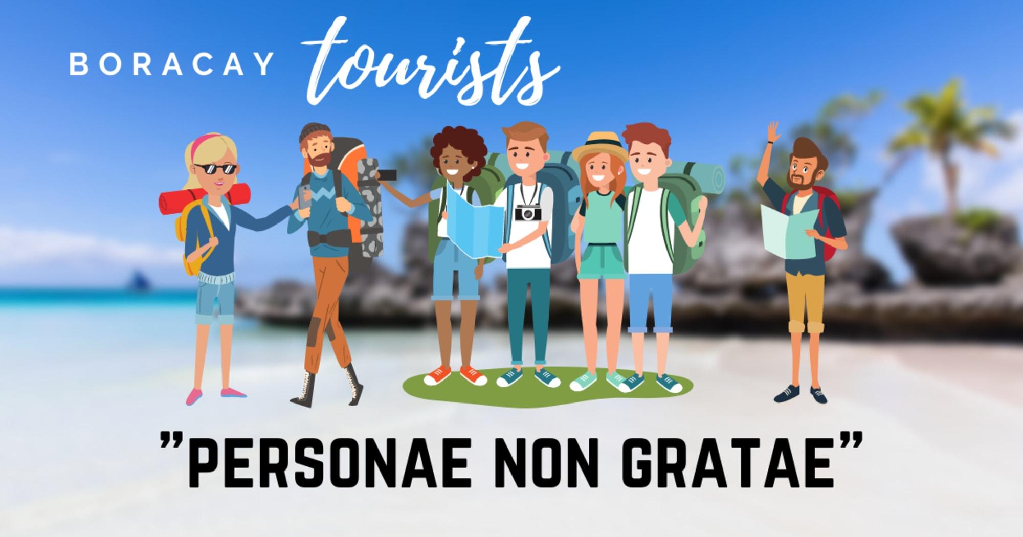 """LGU Malay announce 122 Boracay tourists as """"personae non gratae"""""""