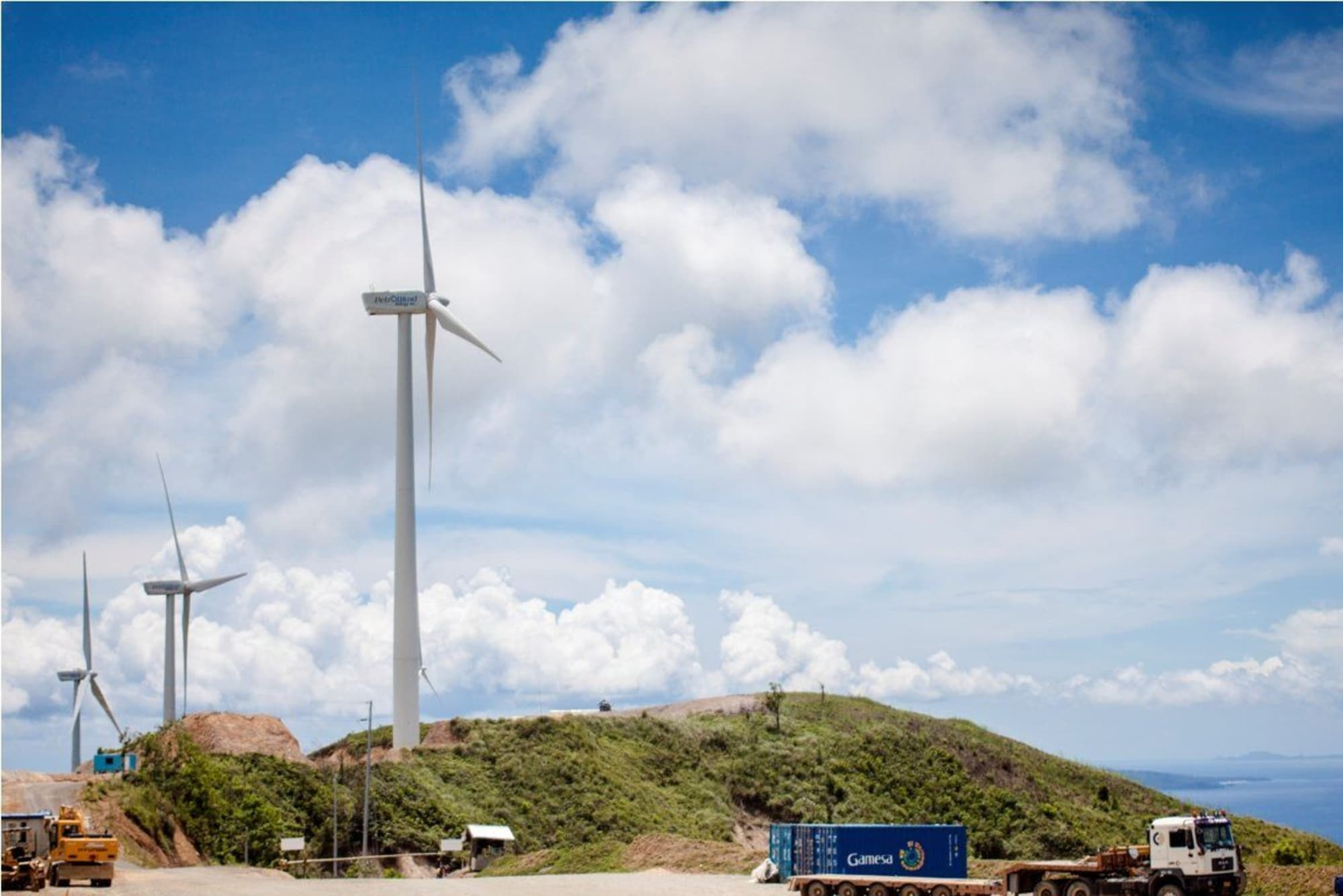 Wind turbines sweeping Aklan