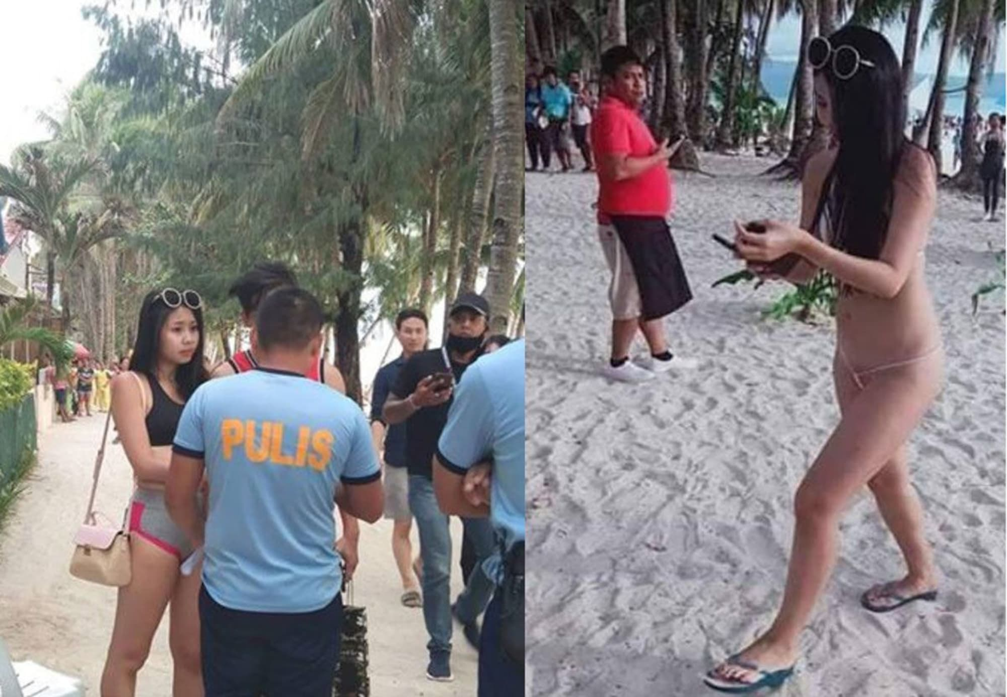 Taiwanese woman on sexy thong bikini arrested, fined in Boracay