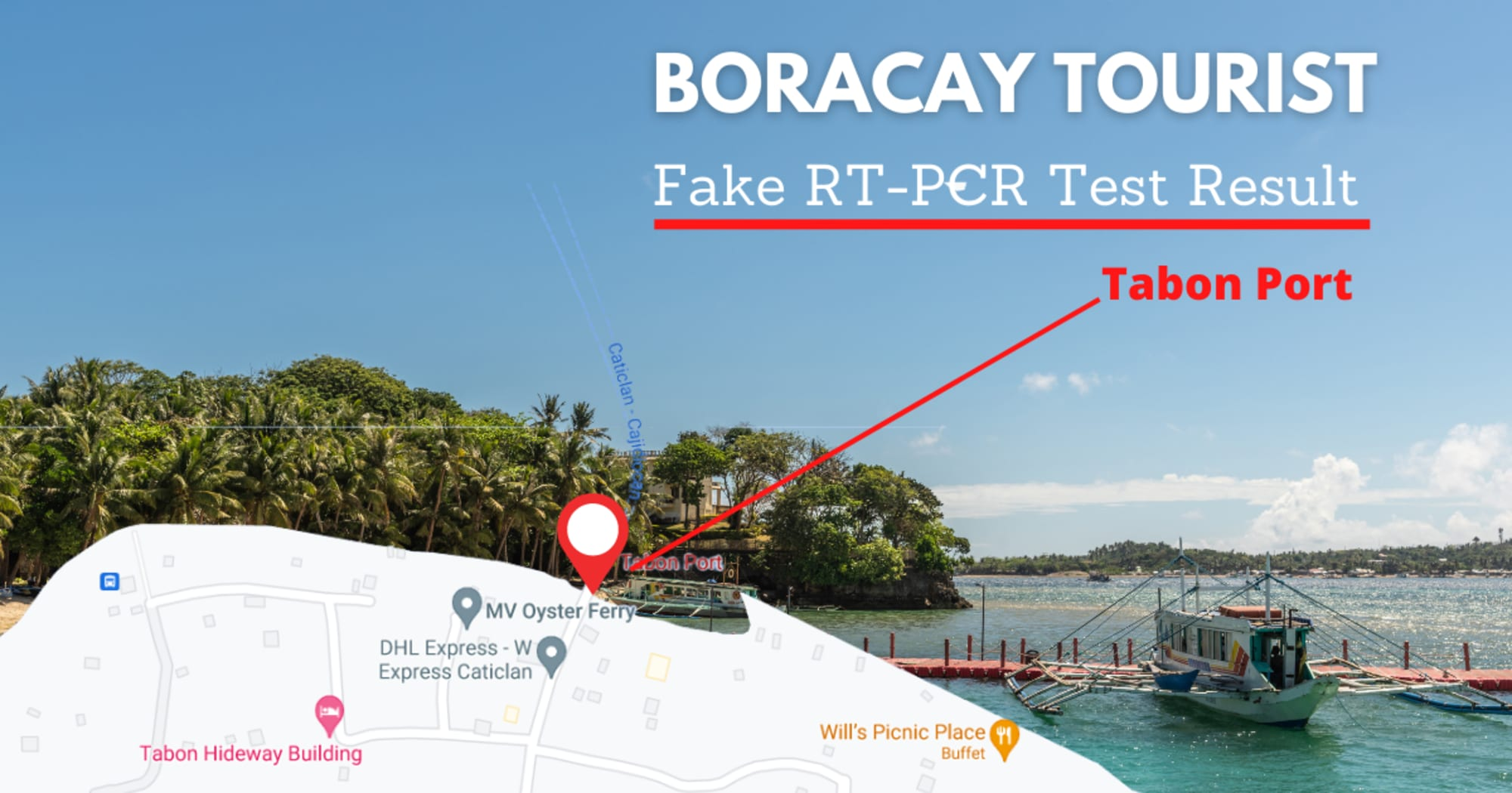 4 Boracay tourists apprehended at Tabon Port Caticlan for tampering their RT-PCR Test