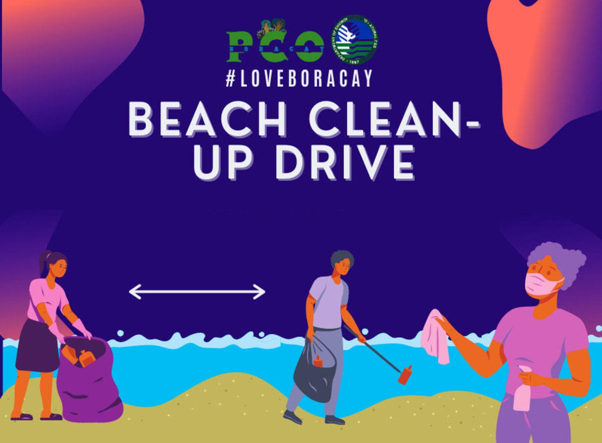 #LoveBoracay Beach Clean-up Drive