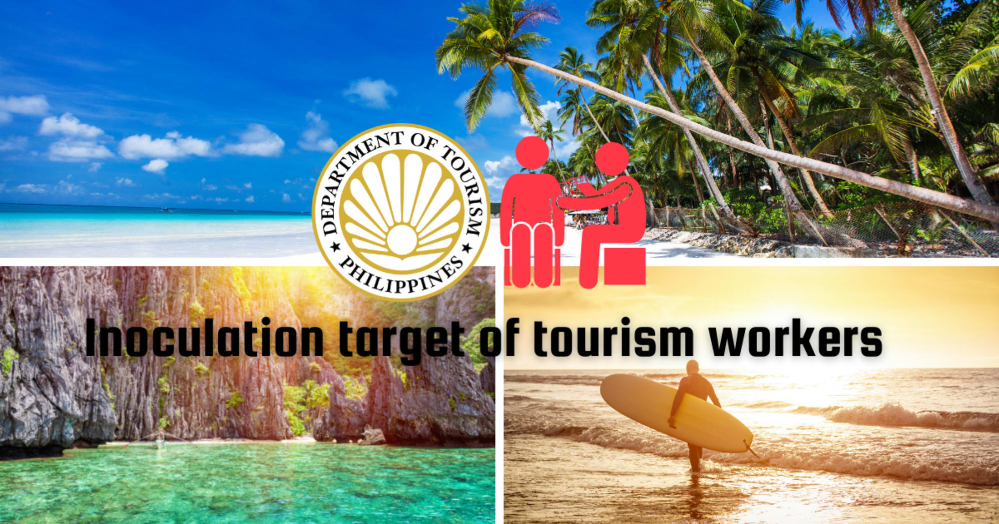 DOT increased its inoculation target of tourism workers and in more tourist destinations