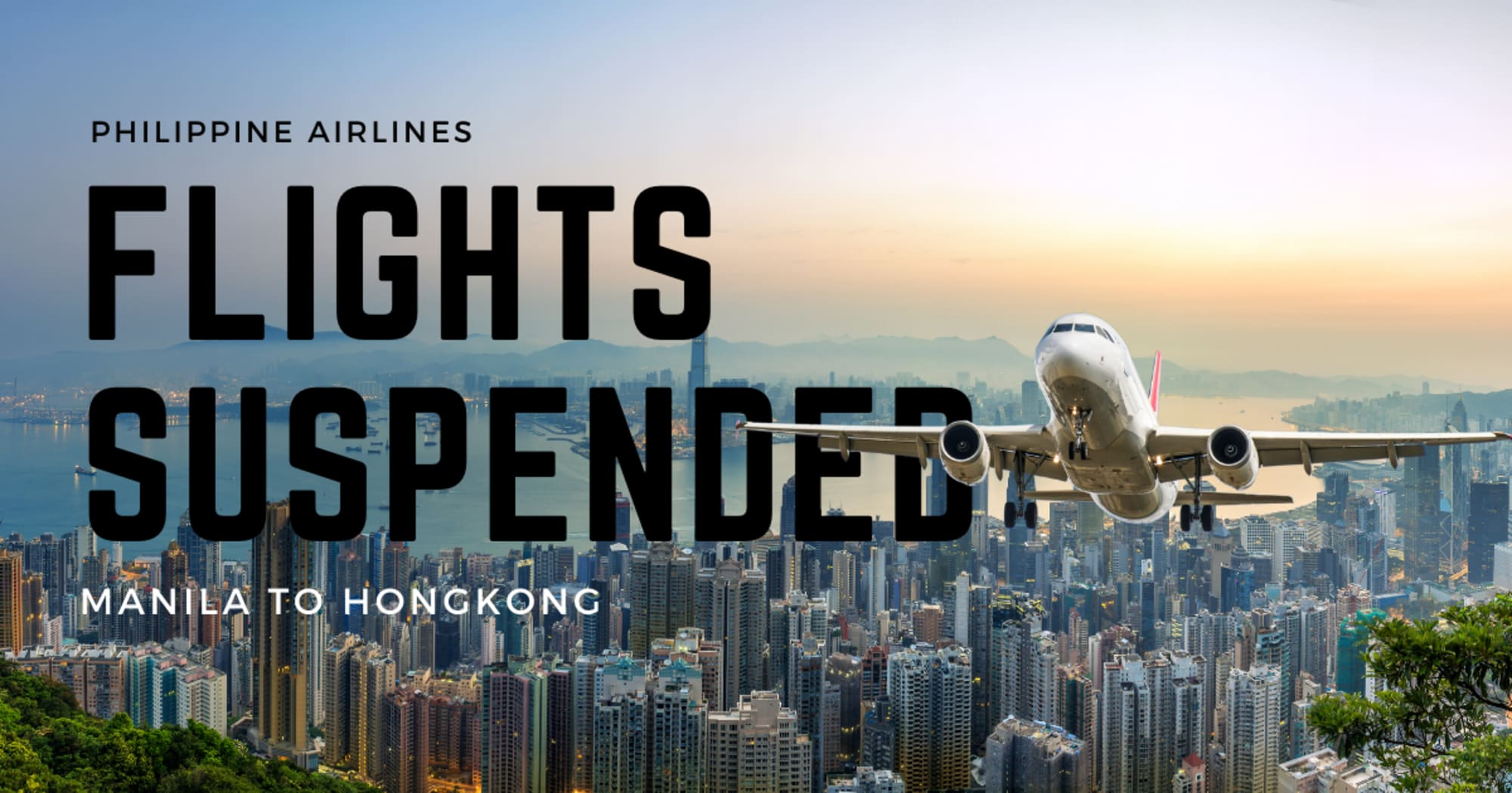 PAL Flights to Hong Kong are suspended for two weeks