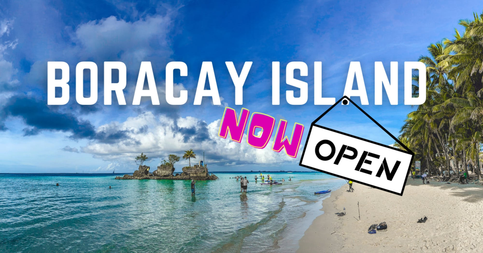 Boracay Island re-opened its doors to incoming tourists starting today