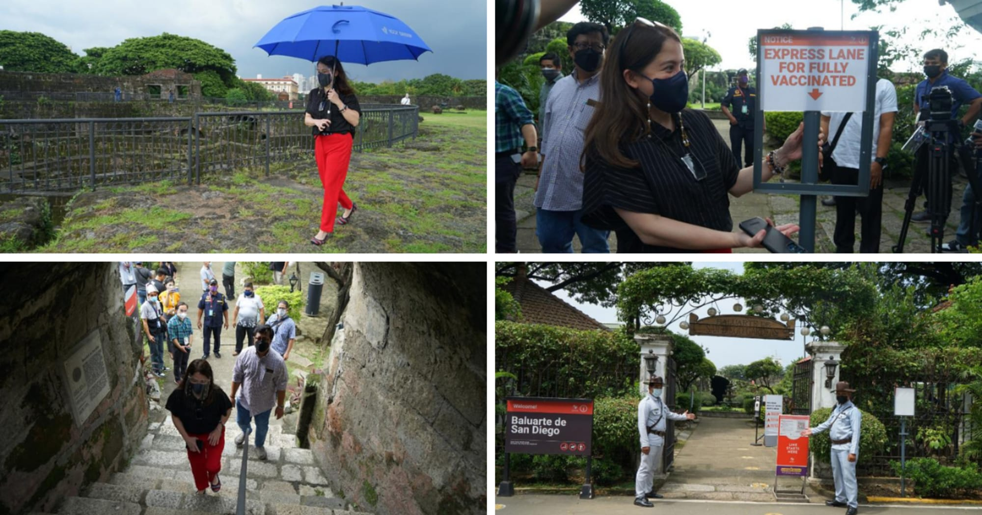Puyat visited the Intramuros sites on its re-opening day; pushes for the lift of age restriction
