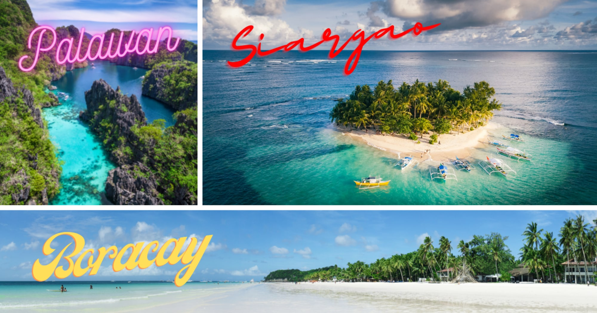 Boracay Island, Siargao and Palawan topped the list of Condé Nast Traveler (CNT) magazine for the Asia category
