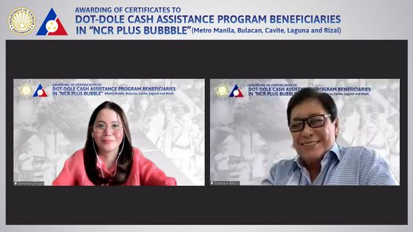 67k displaced tourism workers of NCR+ receive DOT-DOLE ₱5,000 cash aid