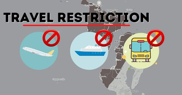 NCR plus regions, Cebu and Davao temporarily barred again from entering Region 6 due to travel restriction. Flights and Trips suspension extended
