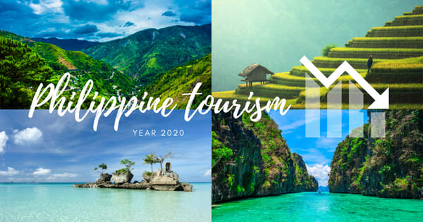 2020 Tourism industry contribution to the Philippine's economy dropped significantly