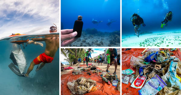 Boracay Island celebrated the International Coastal Clean-up Day, wherein 80 kg of ocean trash was collected