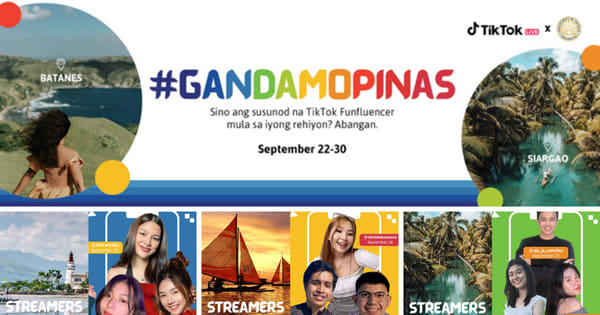 DOT and Tiktok launch #GandaMoPinas Campaign; don't miss the live TikTok sessions of various creators, view their schedule here