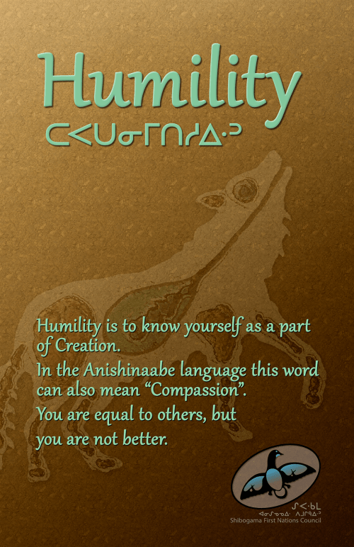 Seven Grandfather Teachings poster: Humility