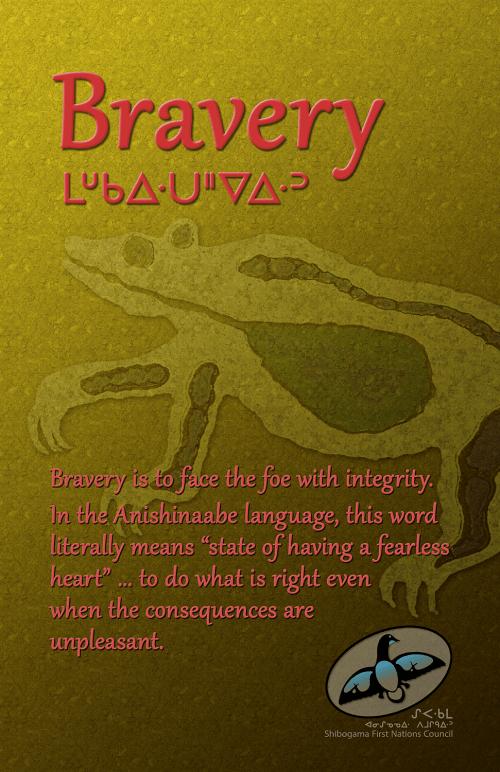 Seven Grandfather Teachings poster: Bravery