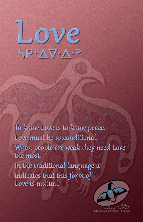 Seven Grandfather Teachings poster: Love