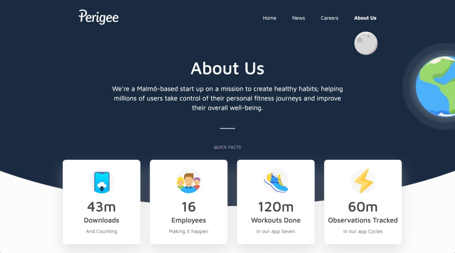 Perigee is a health and fitness app studio based in Malmö. Helping millions of people take control of their own well being.