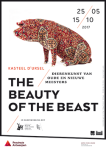 Poster exhibition The Beauty of the Beast, artwork by Wim Delvoye