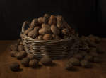 Basket with potatoes (after Van Gogh) ©Karin Borghouts