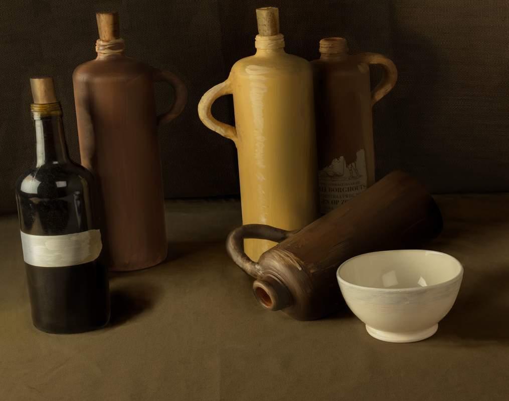 Vincentwashere stilllife Four Bottles