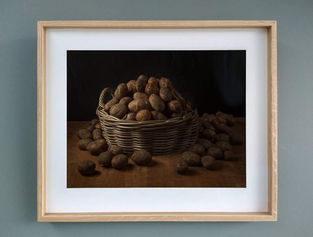 Mand Aardappelen Museumglas Eikenlijst