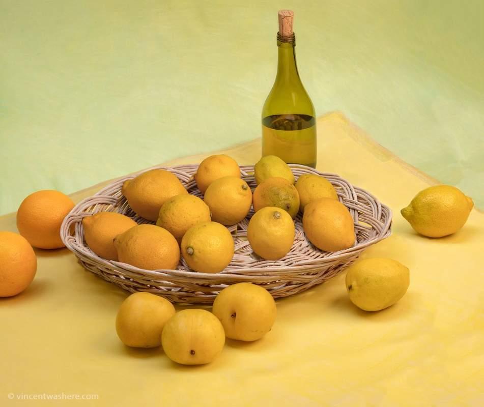 Vincentwashere Basket Citrons Bottle
