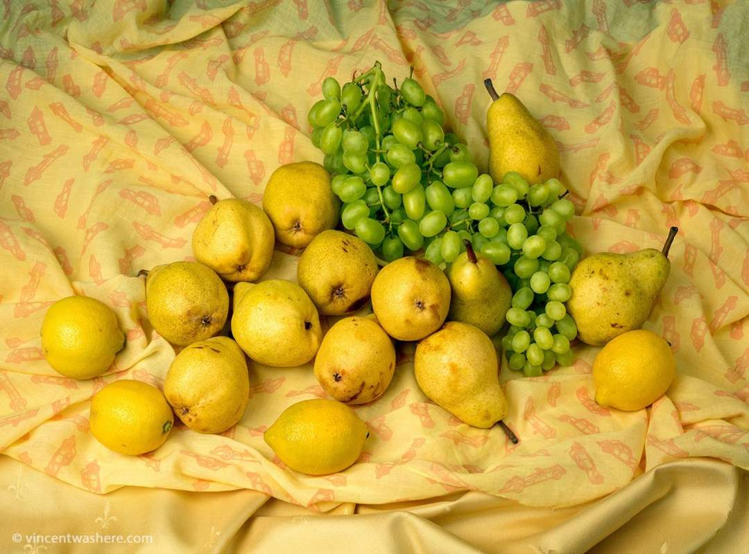 Vincentwashere Stilllife Pears Grapes