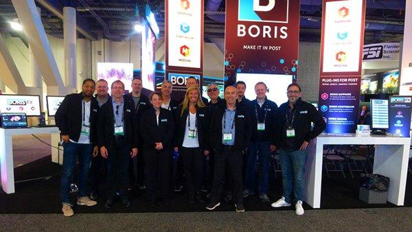 Boris FX booth at NAB Tradeshow in Las Vegas