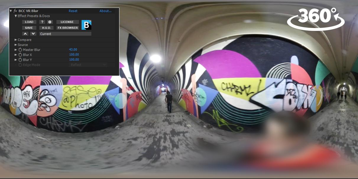 Boris FX - Continuum VR Unit - VR Blur example