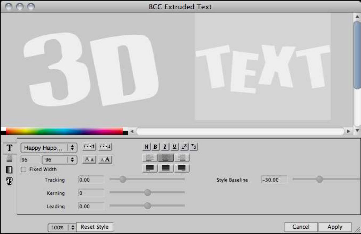 Extruded Text 4