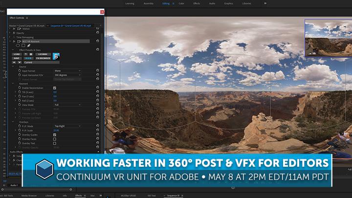 Boris FX - Live Training Event for Continuum VR Unit for 360 editing