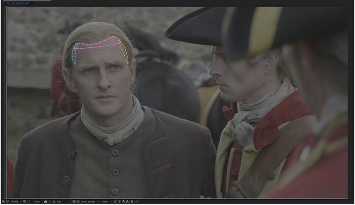 Outlander, rotoscope masks