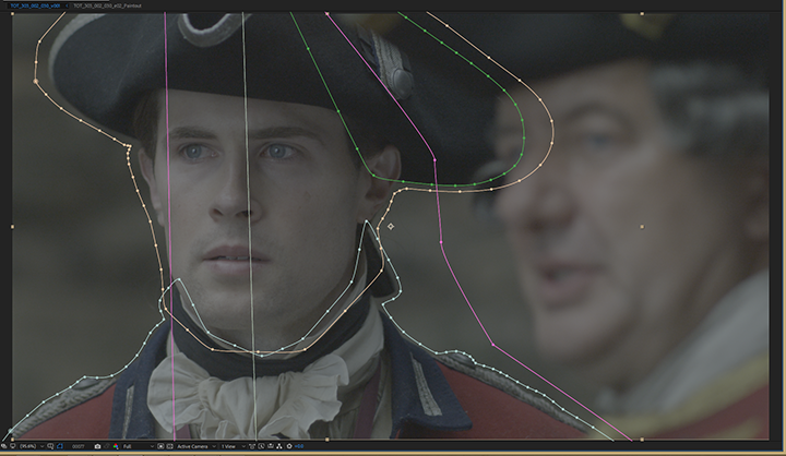 Outlander, left actor's roto masks in After Effects