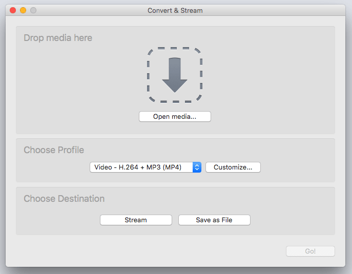 Capture du logiciel VLC