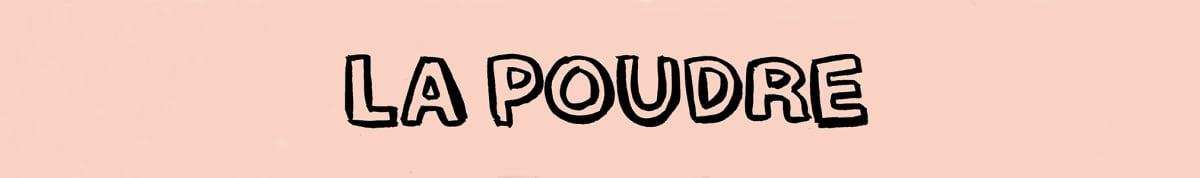 Bandeau avec le logo de La Poudre