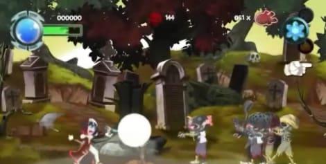 Capture de l'écran Twin Blades, un jeu XBox Live Arcade porté sur Windows Phone en environ deux semaines