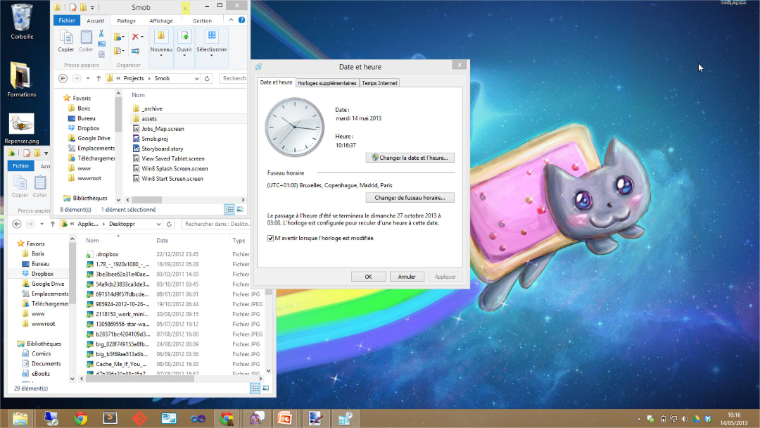 L'interface graphique fenêtrée de Windows 8: derrière le design Modern UI se dévoile une GUI Windows très classique