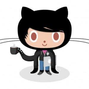 Un dessin représentant une chimère chat/poulpe, déguisée en développeur