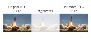 Original JPEG: 33KB. Optimized JPEG: 16KB. Not much differences.