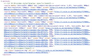Un cinquantaine de lignes de HTML bien dense.