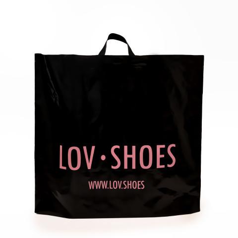 Bolsa plástica de asas flexibles lov shoes