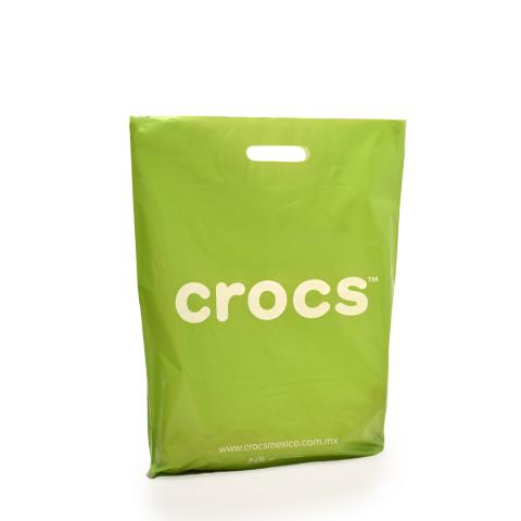 Bolsa de plástico asas troqueladas Crocs