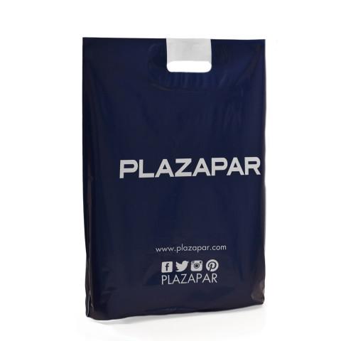 Bolsa de plástico con asas troqueladas Plazapar