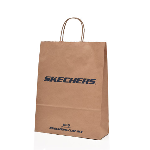 Bolsa de papel tipo Kraft personalizada con logo Skerchers.