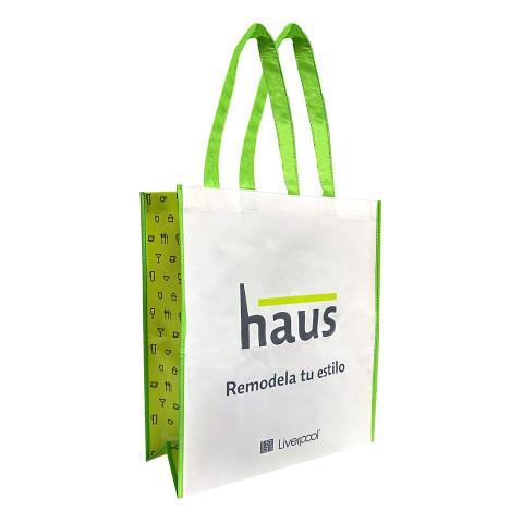 Bolsa Non-Woven impresa y reusable con logotipo Haus.