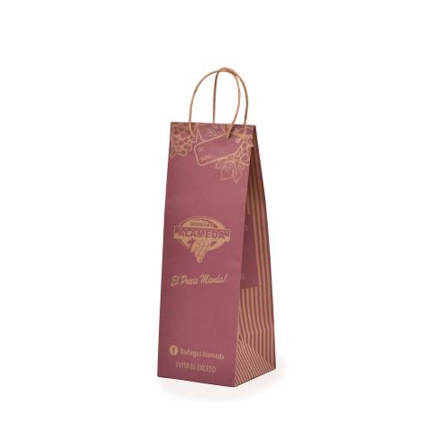 Bolsa para negocio de venta de vinos impresa con la imagen de Alameda.