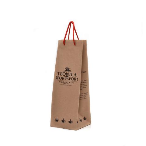 Bolsa para venta de vinos y licores con la imagen de marca de Tequila Por Favor.