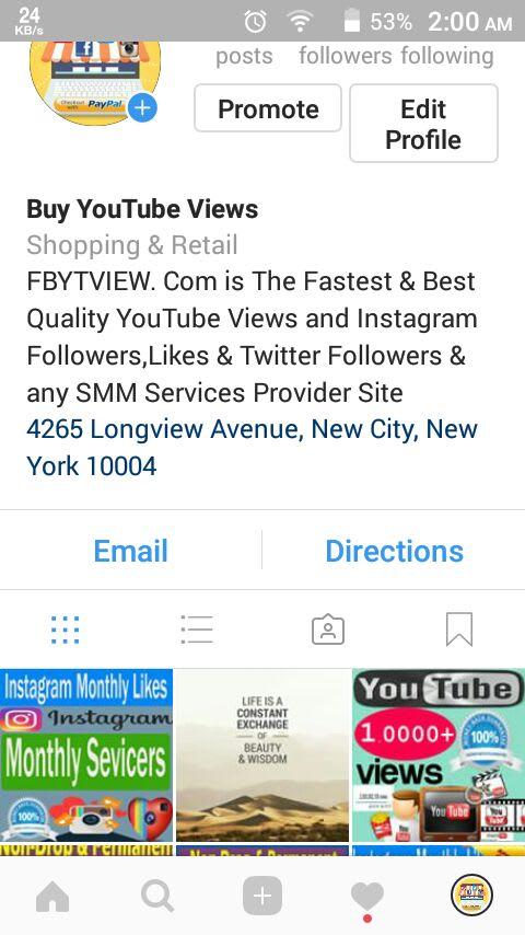 instagtram phono profile