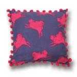 Flying pug cushion cover, £25.00<