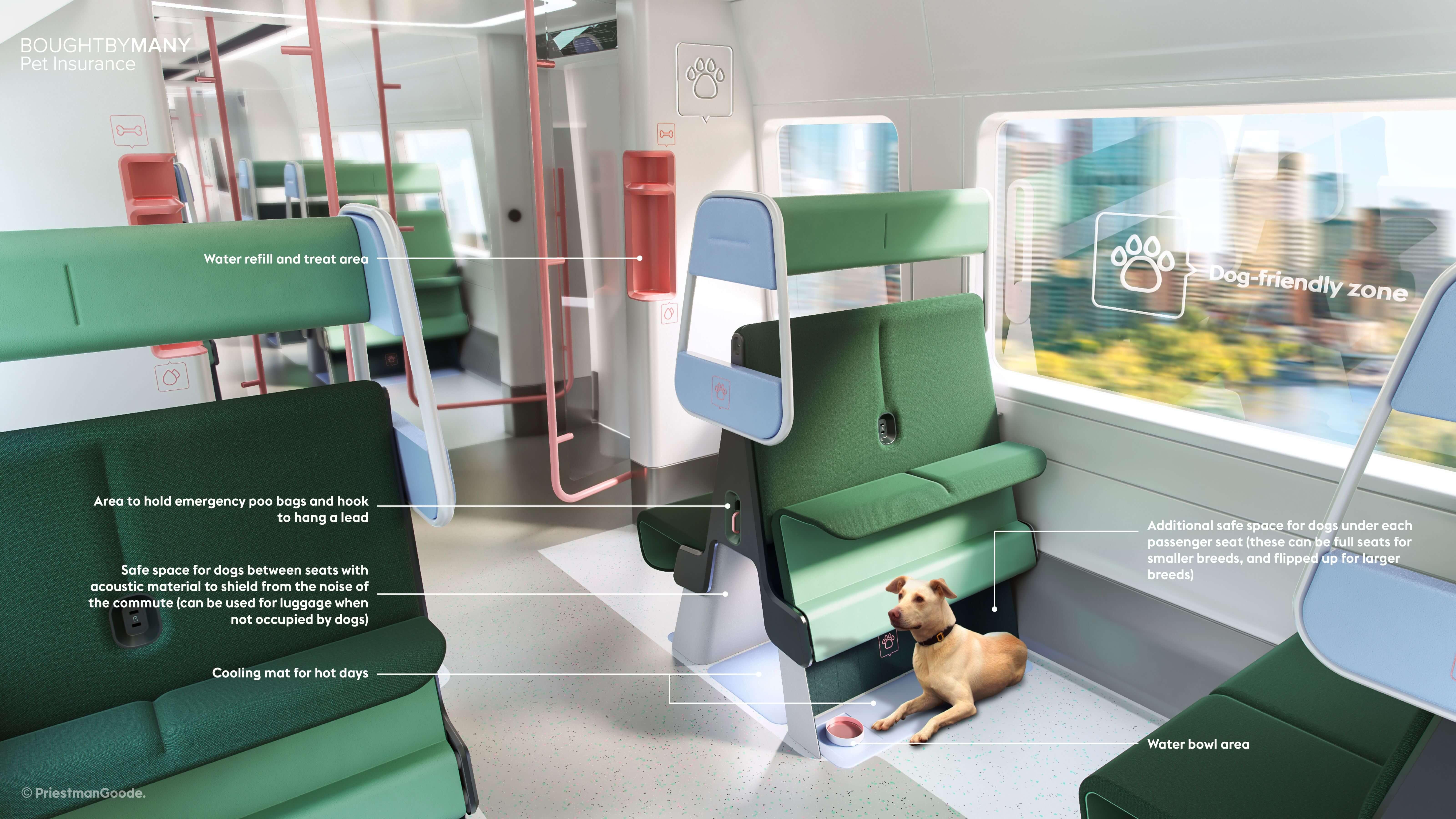 dog-friendly train design